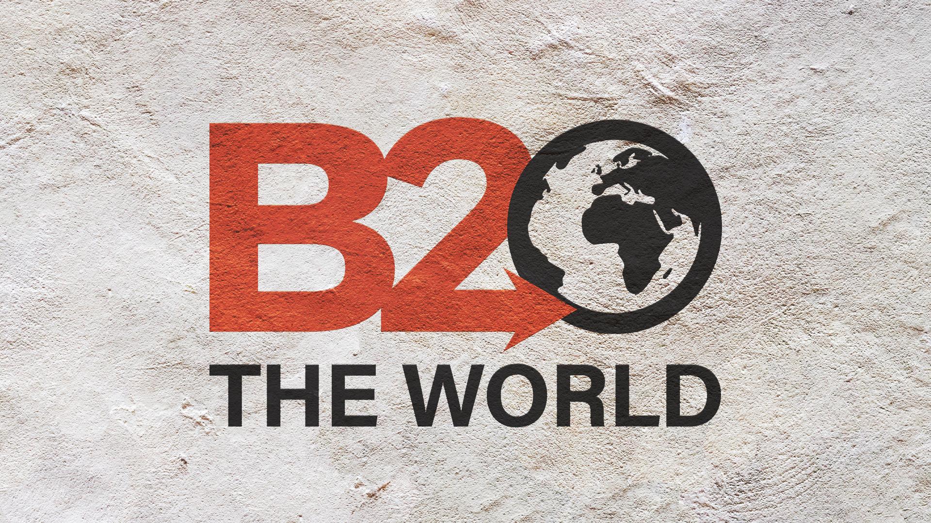 B2 The World Logo