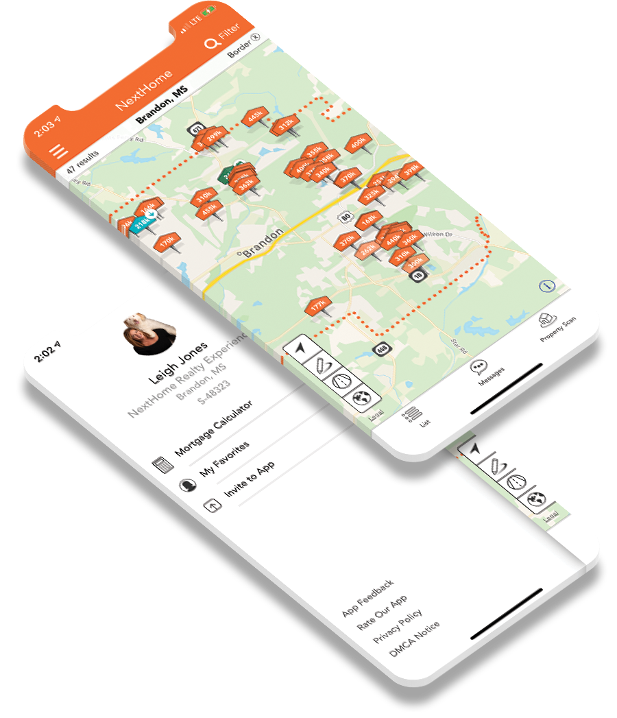 NextHome Realty Experience home search app