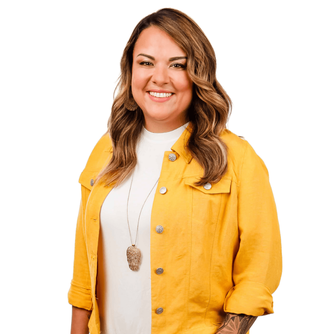 Karla Briones in a yellow jacket