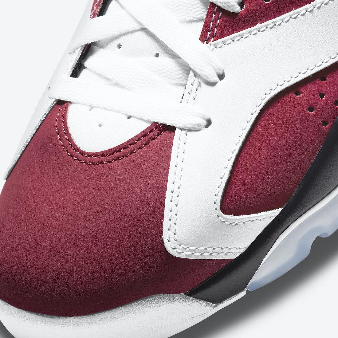Air Jordan 6 Carmine CT8529-106 Release Date