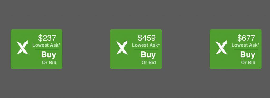 StockX price points