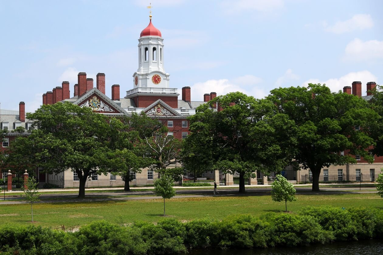 A view of the campus of Harvard University on July 8, 2020, in Cambridge, Massachusetts.