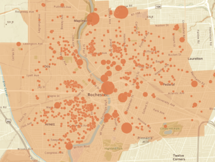 A map of a holistic picture of the affordable housing landscape and needs in Rochester