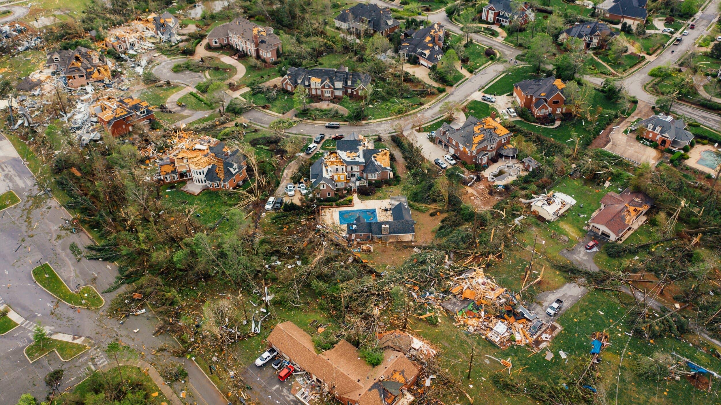 Arial Image of San Juan Hurricane Maria Damage