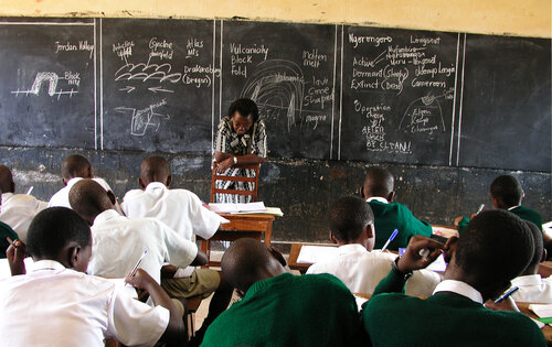 Primary classroom in Kampala, Uganda