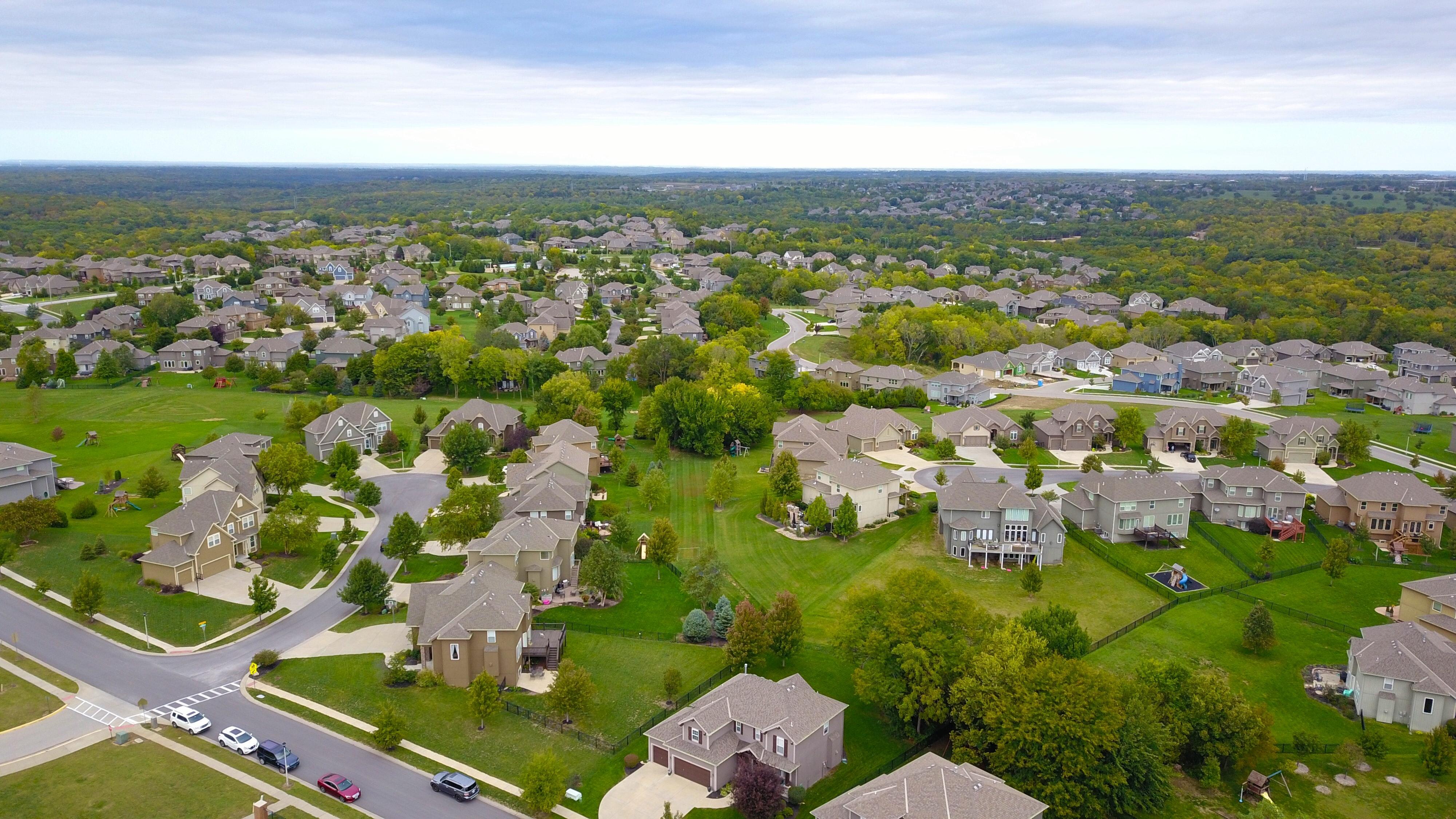 Homes in a neighborhood setting