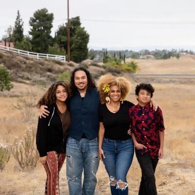 Brandie with Kekoa family
