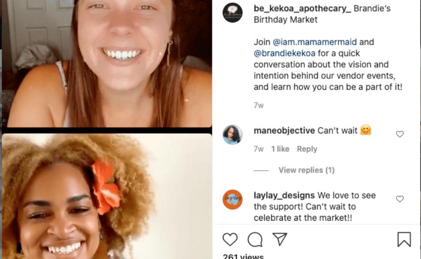 Brandie Kekoa social media with Kristen Ruud