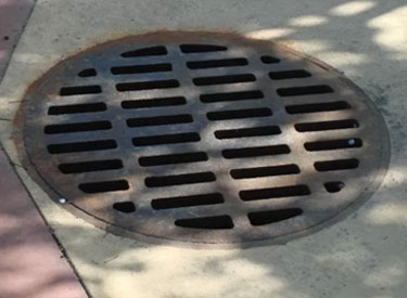 A storm water drain