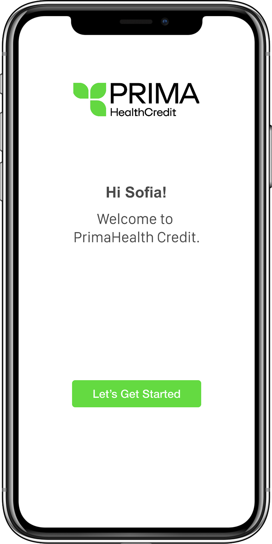 Prima Health Credit Website on Mobile Image
