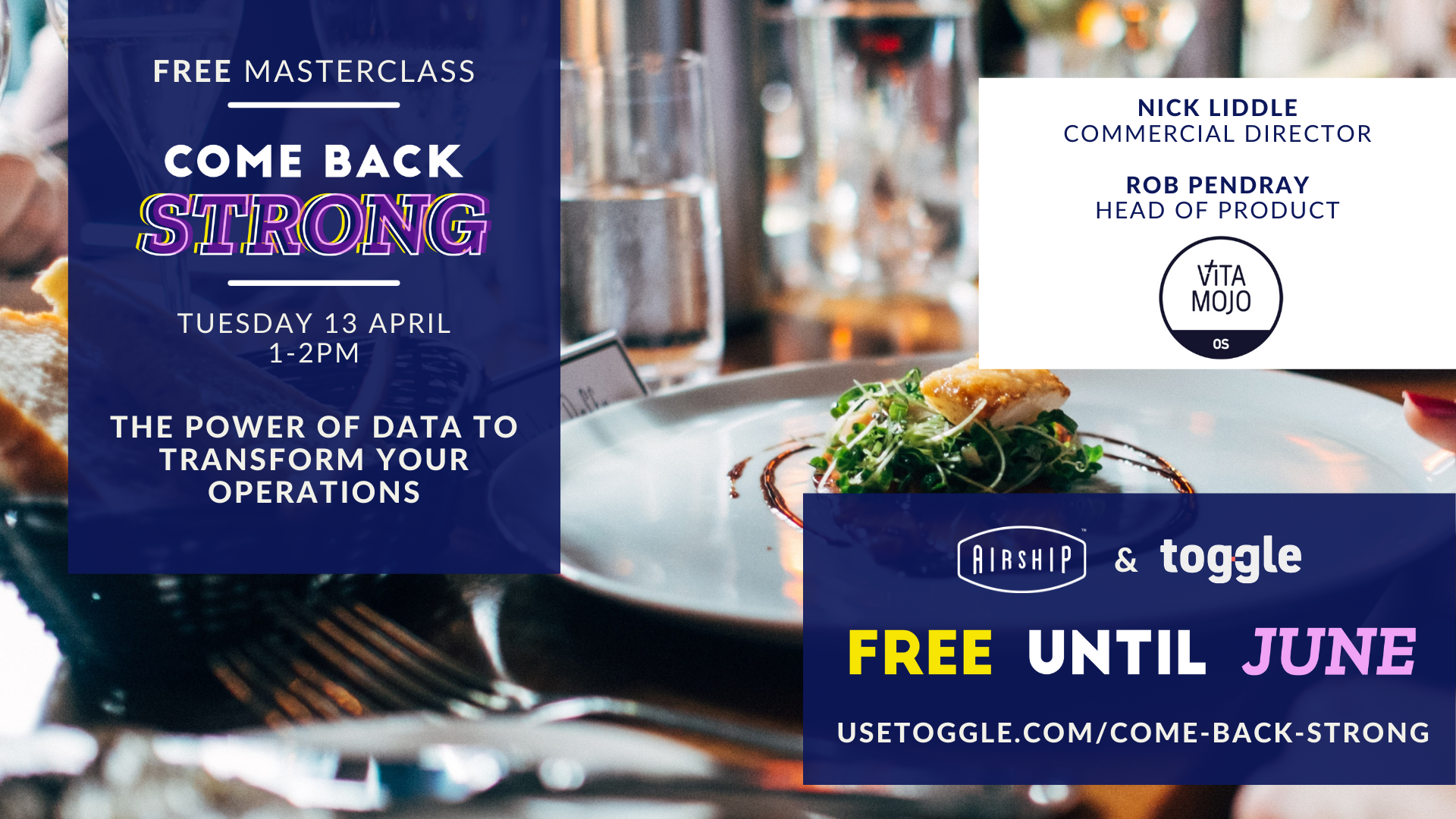 #ComeBackStrong Masterclass: The power of data to transform your operations