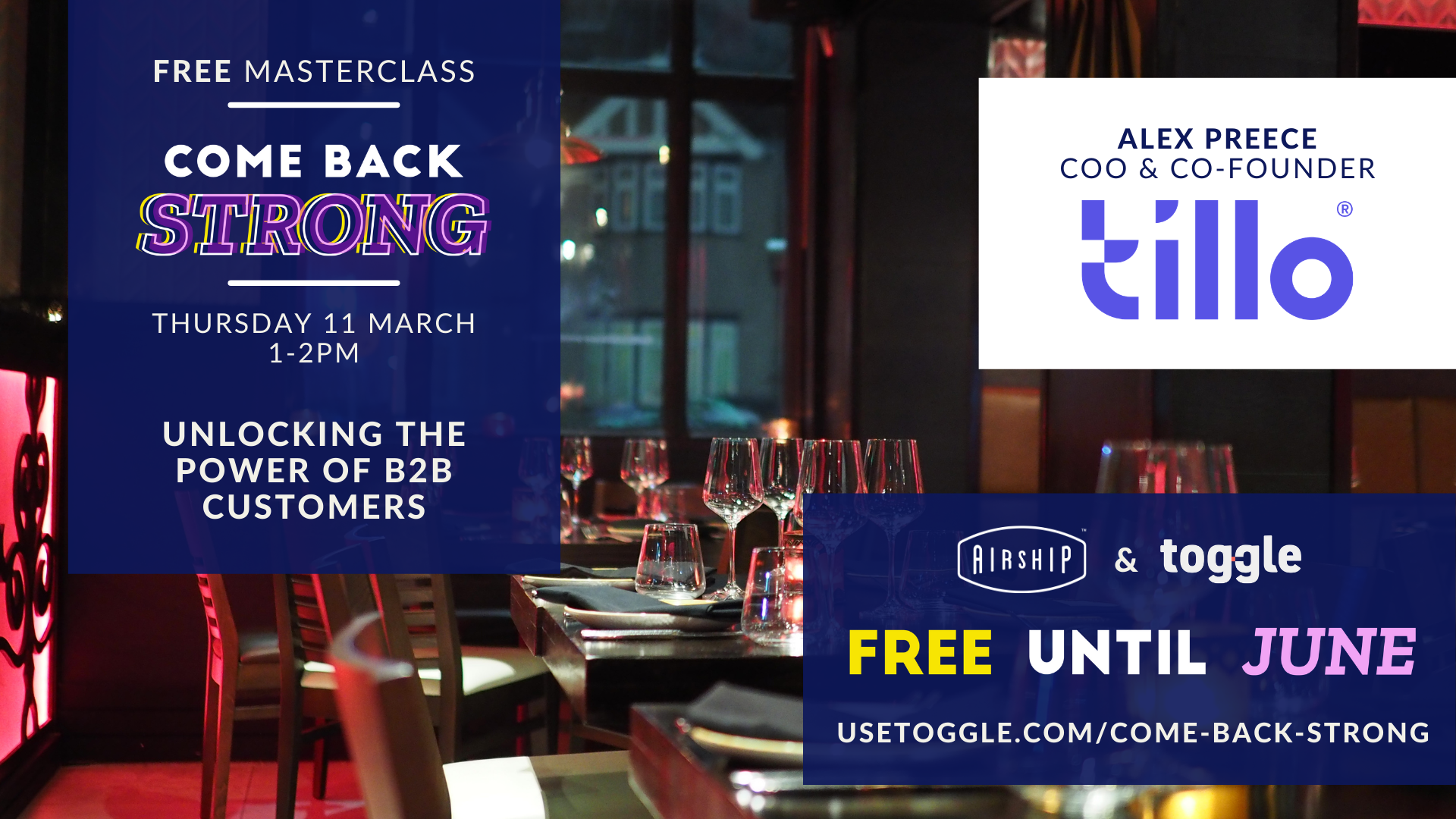 #ComeBackStrong Masterclass: Unlocking the Power of B2B Customers for Hospitality
