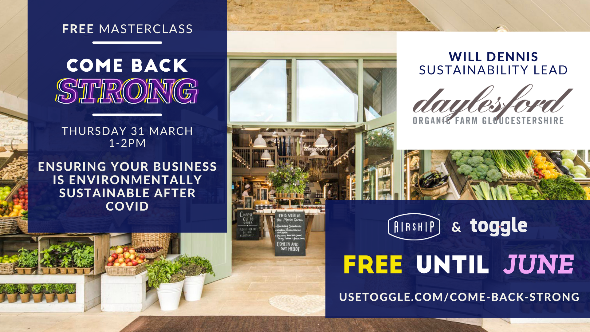 #ComeBackStrong Masterclass: Top tips to ensure your hospitality business is environmentally sustainable after lockdown