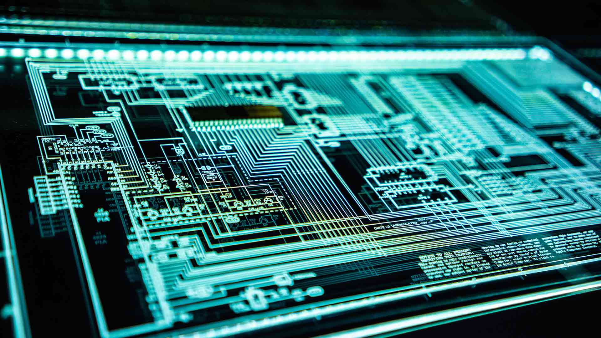 Digital circuit board.
