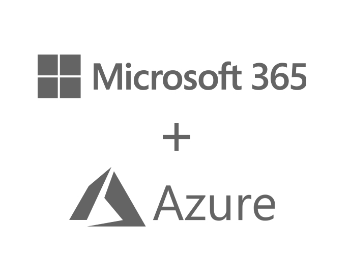 Microsoft 365 and Azure logos.