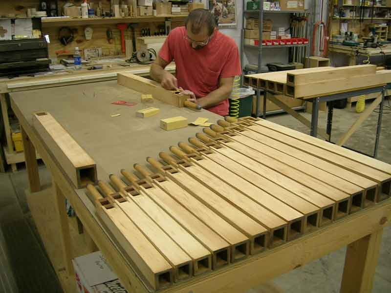 Wood pipe construction