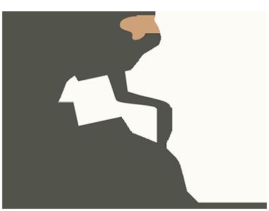 Monkey holding an arrow sign