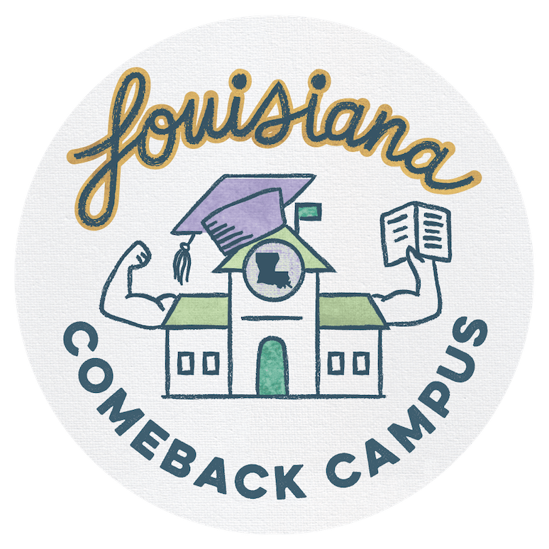 Logo for the Louisiana Comeback Campus program
