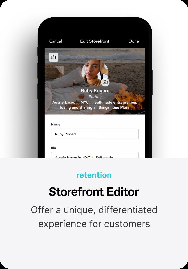 Storefront Editor