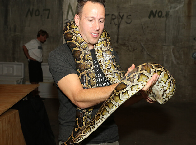 Will Weisman's encounter with a snake.