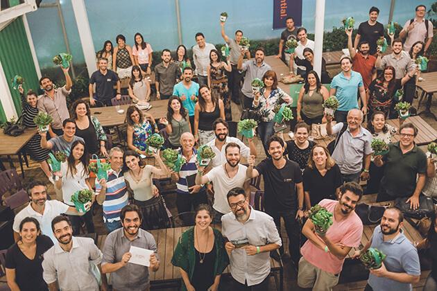 SingularityU Chapter members cheering