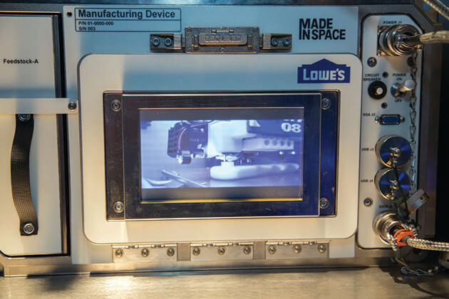 Lowes Made in Space 3D Printer