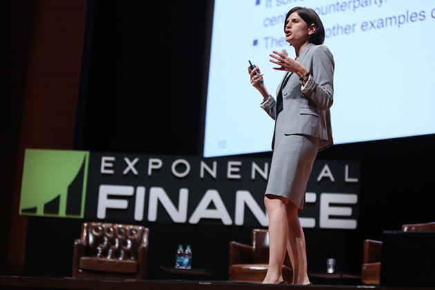 Woman speaker at xFin