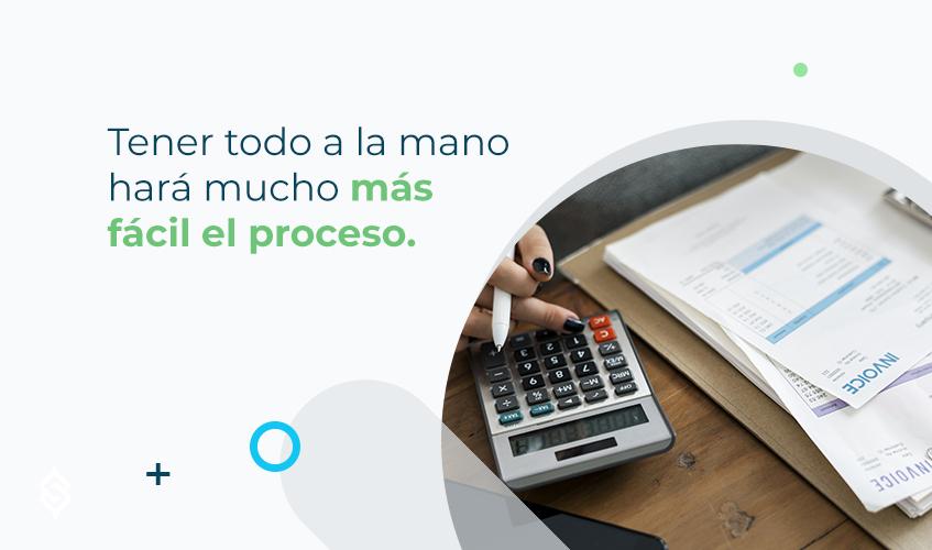 Tener todo a la mano hará mucho más fácil el proceso.