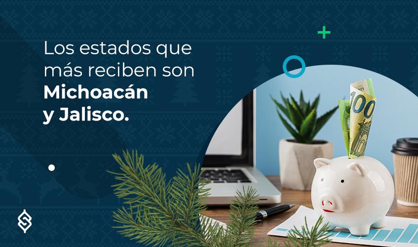 Los estados que más reciben son Michoacán y Jalisco.