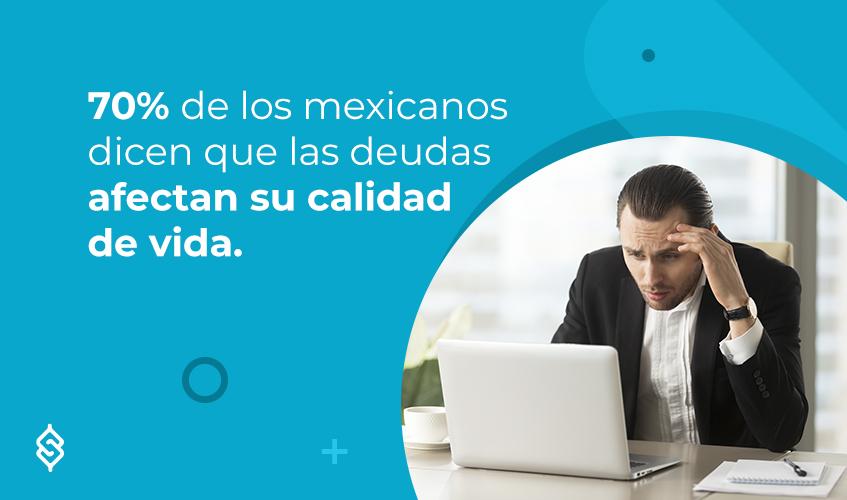 70% de los mexicanos dicen que las deudas afectan su calidad de vida.