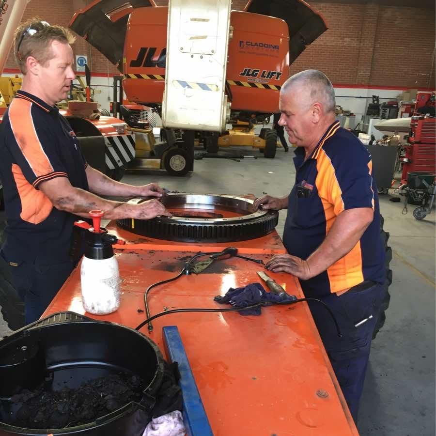 technicians in workshop