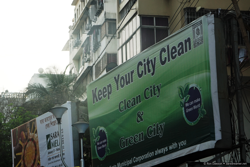 Keep your city clean billboard in Kolkata.