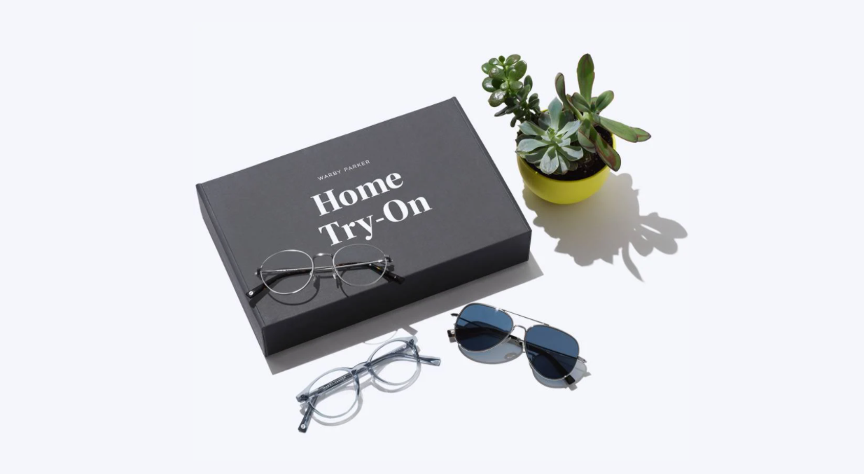 """Warby Parker does brand strategy well with its """"home try-on"""" program."""