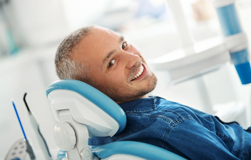 Man smiling root canal