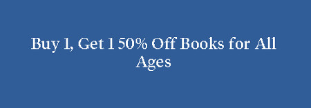 Buy 1, Get 1 50% Off Books For All Ages graphic
