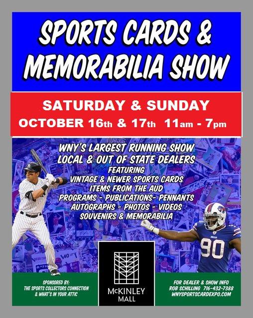 Sports Cards & Memorabilia Show Flyer