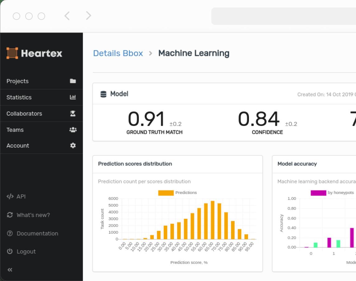 screenshot heartex machine learning