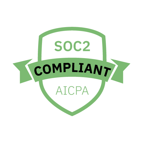 Badge indicating SOC-2 Compliance.