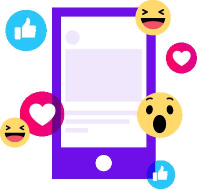 social emojis graphic