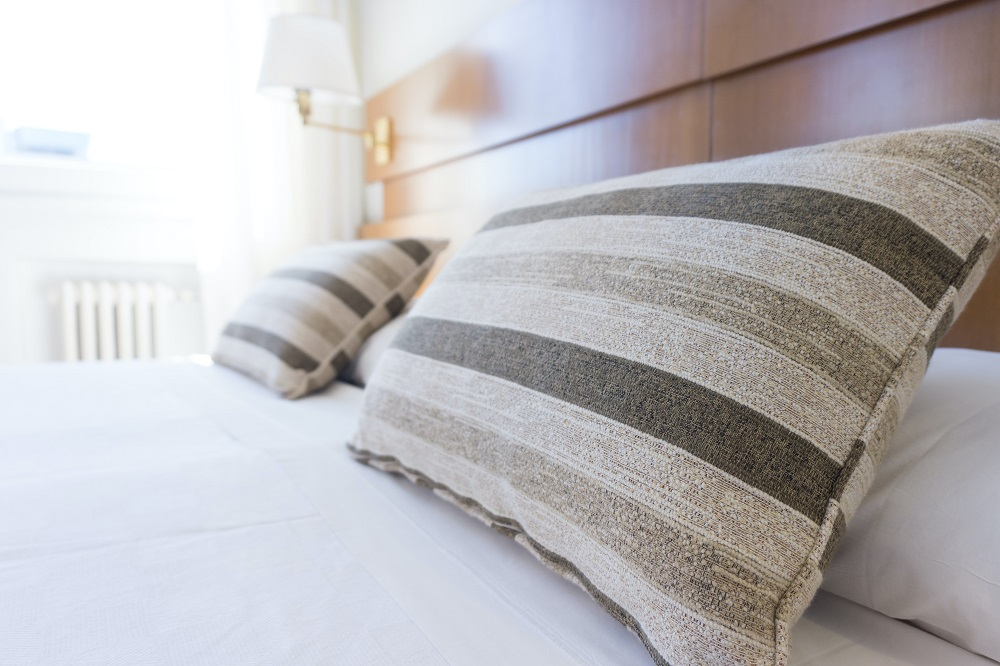 two pillows on bed