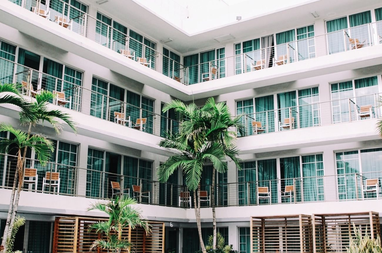 Hotel rooms from outside