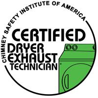Certified Dryer Exhaust Technician logo