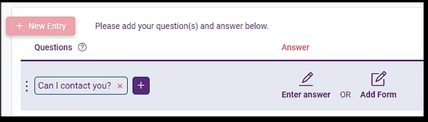 q and A with FAQ bot