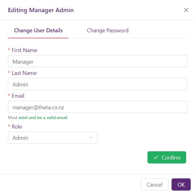 Edit FAQbot user
