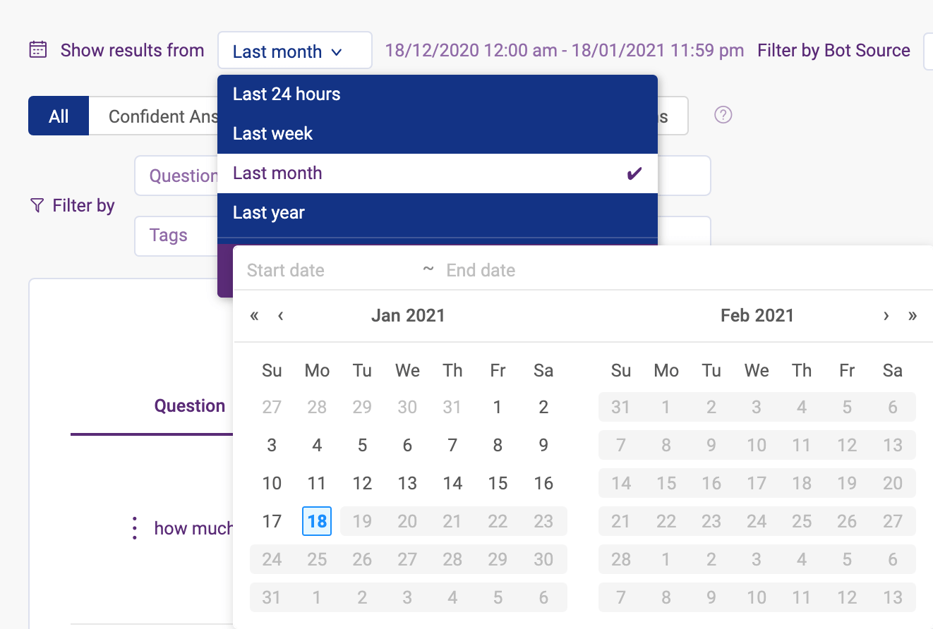 filter insights by date