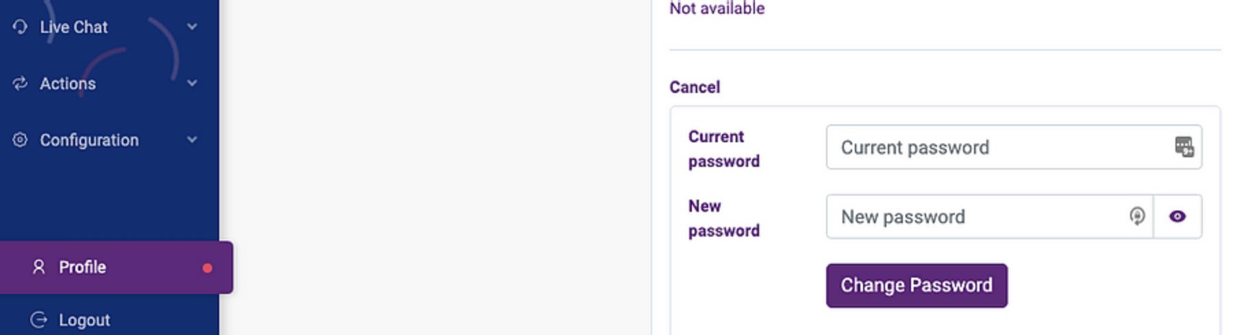 Reset admin user password