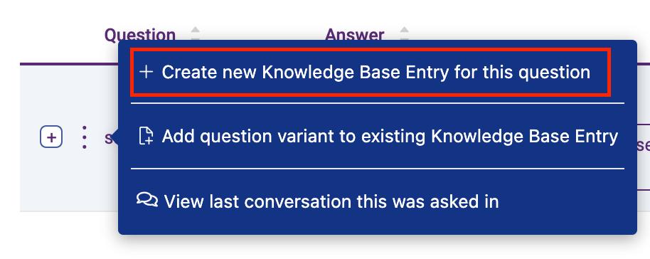 create new knowledge base entry - screenshot