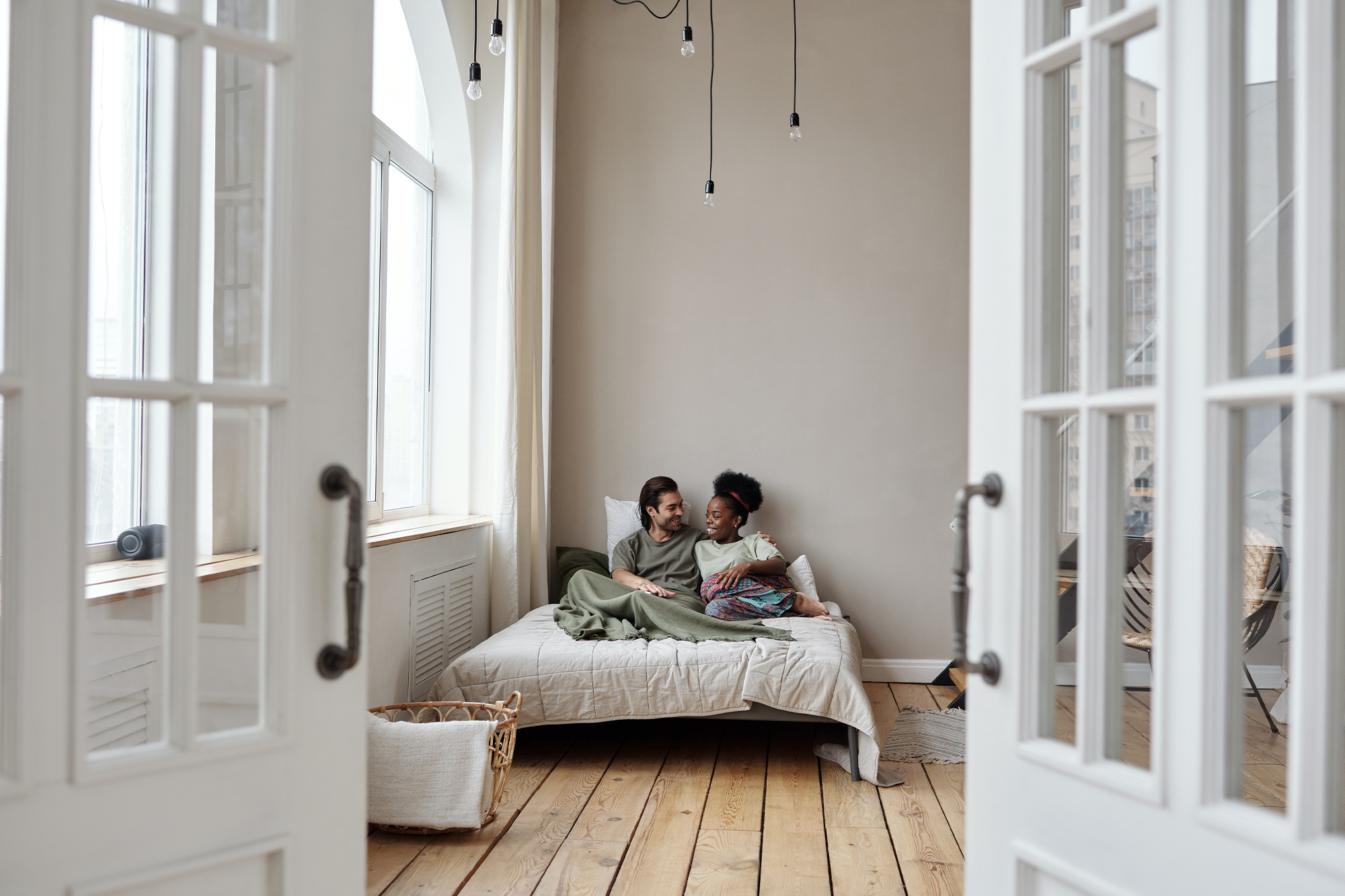 Couple on a bed