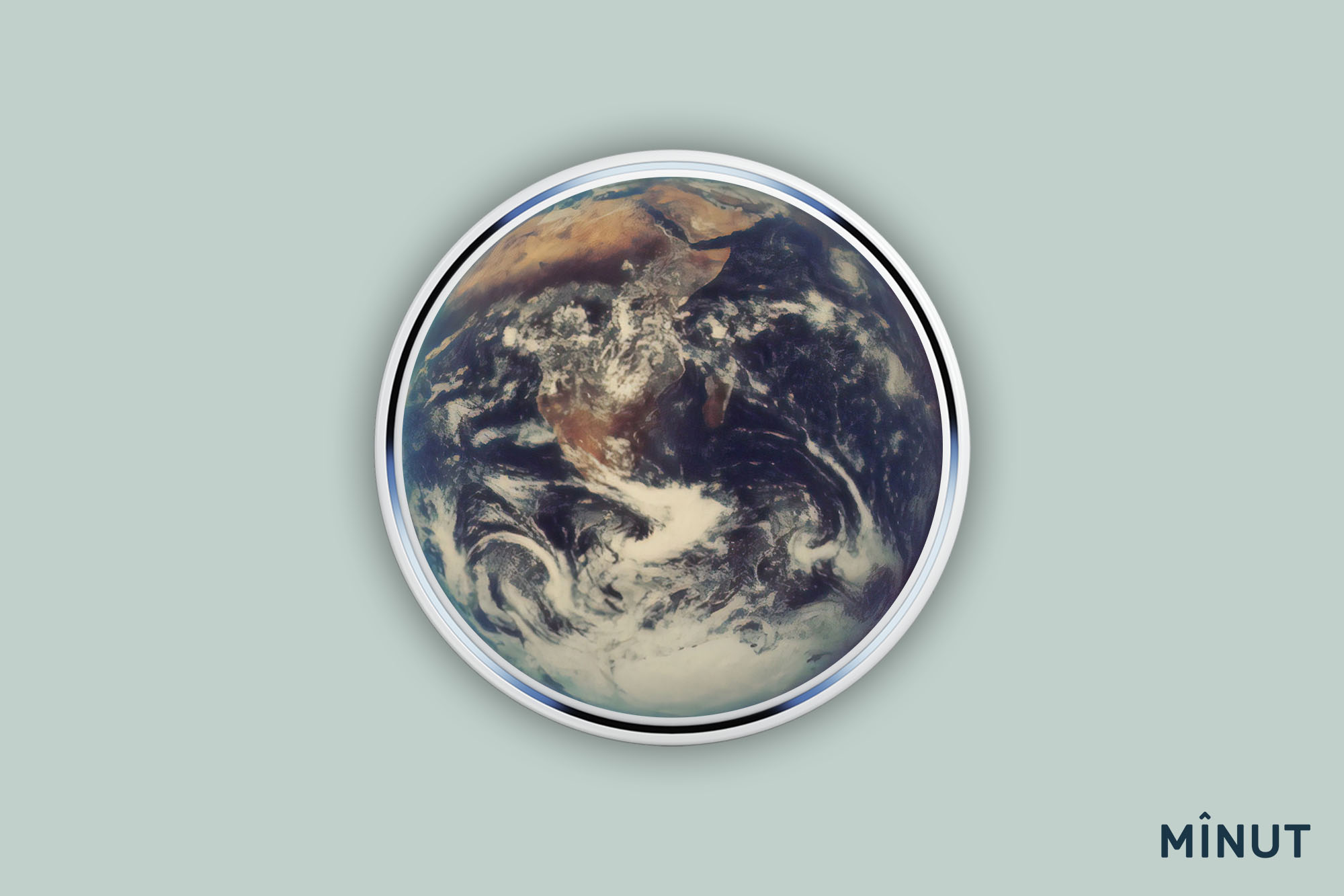 Picture of the Earth placed over a Minut sensor