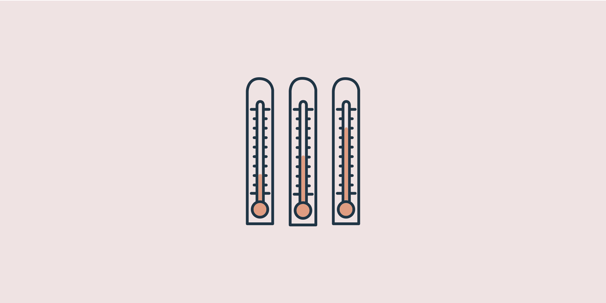 Three thermometer icons